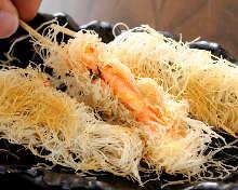 Snow crab kataifi roll