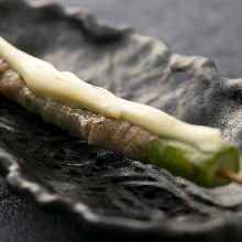 Asparagus skewer