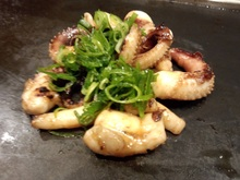 Grilled squid with butter