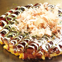 """Make it yourself and eat it together; an enjoyable okonomiyaki experience!"""