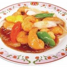 Shrimp with sweet vinegar