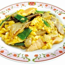 Meat and egg stir-fry