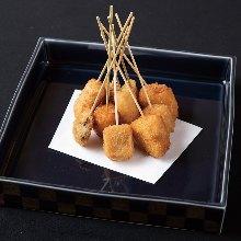 Assorted fried cutlet skewers, 5 kinds