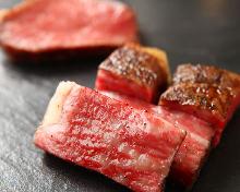 これがポンドの世界観!熟成神戸牛 前菜三種の取り合わせ