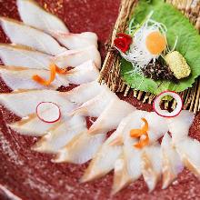 Atka mackerel sashimi