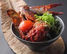 Nokke(raw salmon) Rice