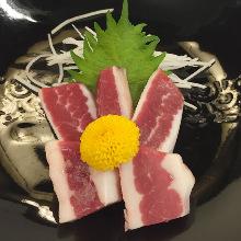 Horse belly sashimi