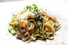 Yakisoba noodles with marinated cod roe