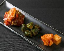 Assorted kimchi