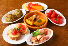 Assorted appetizers