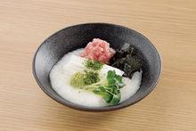 Finely chopped tuna sashimi