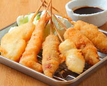 Assorted fried cutlet skewers, 7 kinds