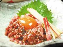 Steal tartare of roast beef