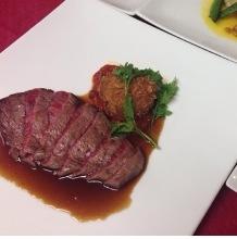 Beef lean steak lunch set