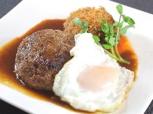 Wagyu beef hamburg steak set