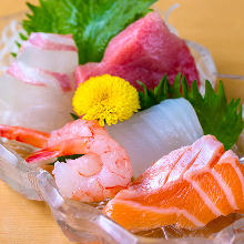 Assorted premium sashimi