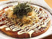 Beef sinew okonomiyaki
