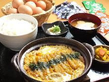 Pork cutlet with egg set meal