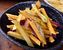 Fried and buttered sweet potato