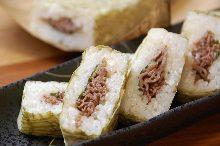 Wagyu pressed sushi