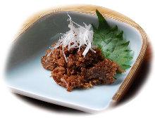 Shigureni (boiled dish in soy sauce)