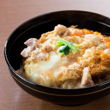"""Oyako"" chicken and egg rice bowl"