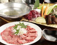 Beef tongue shabu-shabu