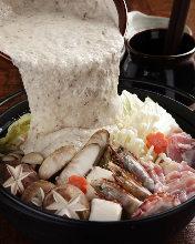 Wild yam hot pot