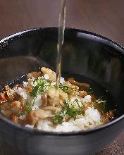 Beef ochazuke (rice with tea)
