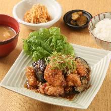 Fragrant fried chicken set meal