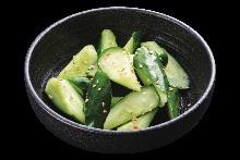 Smashed cucumber salad