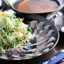 Mackerel shabu-shabu hot pot