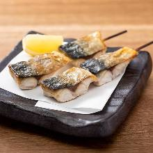 Grilled mackerel skewers