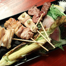 Assorted charcoal grilled dishes