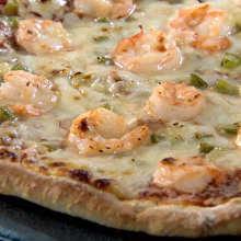 Shrimp mayonnaise pizza