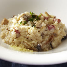 Mushroom and cheese risotto