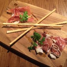 Assorted prosciutto