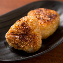 Grilled rice ball