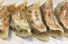 Pan-fried kimchi gyoza