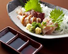 Assorted chicken sashimi, 3 kinds