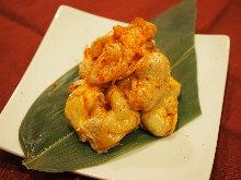 Spicy chicken skin