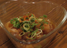 Beef tendon with ponzu