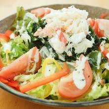 Caesar salad with snow crab