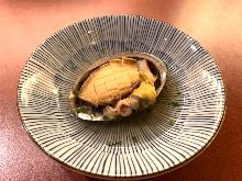 Abalone steamed with sake