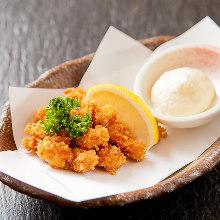 Deep-fried chicken tenderloin