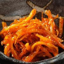 Dried squid kimchi