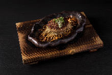Wagyu beef hamburger steak