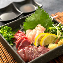 Assorted chicken sashimi, 3 kinds