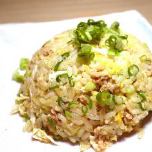 Ground chicken fried rice