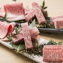 Assorted wagyu beef loin